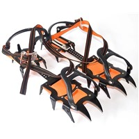 Twelve tooth technology-based full- strapped climbing crampons