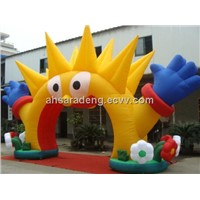 Party event inflatable sun arch decoration