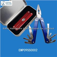 Stainless steel multi plier with tin box packing , handle color can be customized (EMP09SS0002)