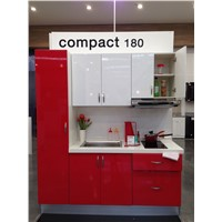 High red gloss kitchen cabinet