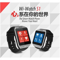 Smart watch Wi-Watch S1 with micro SIM card/Heart Rate monitor/pedometer water resistance Wristwatch