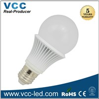 Low price 5W/6W led bulb, dimmable E27 180 degree led bulb light