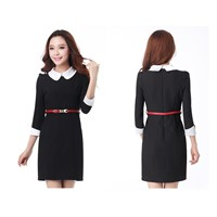 Ladies dress with long sleeve,good workmanship and quality,model no.:J263