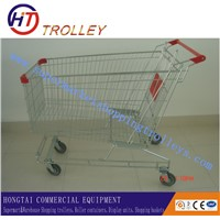 Chrome Hand Trolley Supermarket Shopping Trolley Cart on Wheels