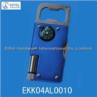 Multi bottle opener with torch and compass (EKK04AL0010)