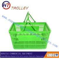 Hot sale plastic single/double handle shopping basket