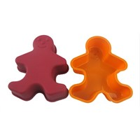 silicone Gingerbread man 3d custom-made cake molds