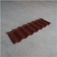 stone chip coated metal roofing tiles