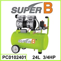24L 3/4 HP Silent Air Compressor; Silent Oil Free Air Compressor