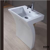 KKR artificial marble solid surface pedestal basin