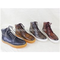 Comfortable winter boots,Hand stitched leather boots, fashion leisure small boots