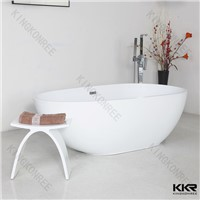 Solid surface freestanding bathtub , acrylic bathtub