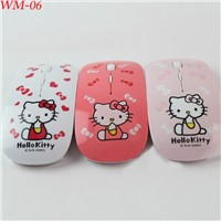WM-02 Wireless hello kity girl usb mouse