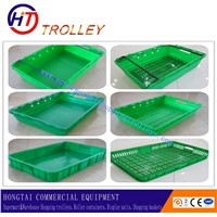 Supermarket  Rectangular Plastic Vegetable Shelf  Basket With A Flat Bottom