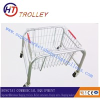 Supermarket Shopfitting Metal Shopping Basket Support Holder