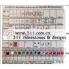 311 iron on acrylic stone hot-fix heat transfer rhinestone motif design 3
