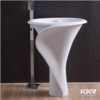2014 Modern Acrylic solid surface freestanding wash basin