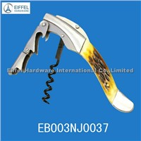 High quality two step OX horn handle wine opener(EBO03NJ0037)
