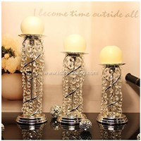 Best seller traditonal round crystal glass candle holder for events/parties/weddings/christmas