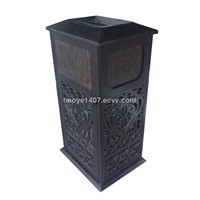 outdoor dustbin cast alluminum