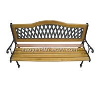 wooden cast iron garden bench