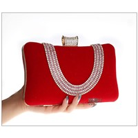 u-shaped women's crystal clutch purse bag.wonderful sparking women handbag for sale