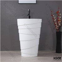 No bacteria solid surface free standing  basin