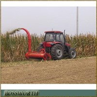 Tractor silage harvester