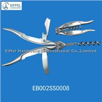 High quality Double handle stainless steel wine opener(EBO02SS0008)