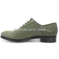 pearl finshskin Shoes/ Hand made men's Shoes/ luxurious, fashion shoes/ lance- up soes