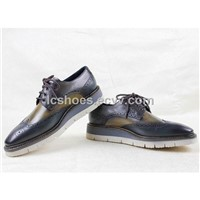 fashion,british style shoes,Nubuck leather shoes,bullock, men's shoes,lace shoe