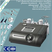 7 In 1 microdermabrasion machine /ultrasonic skin scrubber/Diamond Microdermabrasion beauty machine