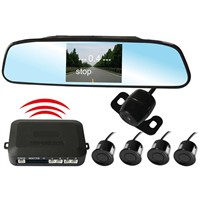 Wireless Back up parking sensors with LED  and mirror