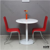 KKR desinger white acrylic stone coffee table and chairs