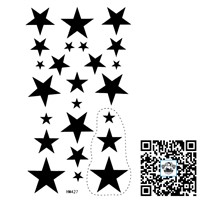 Feminine Tattoos/arm,waist,back,bodyFive-pointed star/waterproof, transferable tattoo & body art /CE