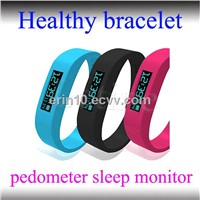 Bluetooth 4.0 Long Standby Pedometer Sleep Monitor Stopwatch Healthy Bluetooth Bracelet
