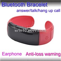 Bluetooth Bracelet With Earphone port with Caller ID+Anti-lose+Answer/Hang up Call For Smart Phone