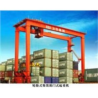 High Quality Rubber-tyred Container Portal Crane