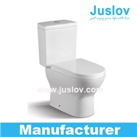 High price performance ratio Popular in European market Wash down dual flush Two Piece Toilet