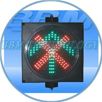 200mm led traffic signal light red cross green arrow
