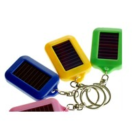 Colorful Solar Keychain ABS plastic Material LED key chains