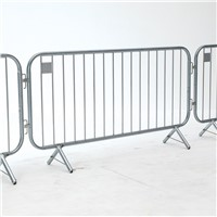 Hot dipped galvanized crowd barrier