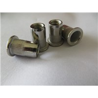 China Stainless steel flat head rivet nuts