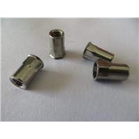 China stainless steel small countersunk head half hexagon rivet nuts