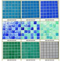 48*48mm Ice crackled glazed mosaic for swimming pool