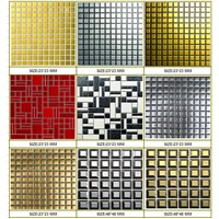 Silver or Gold Glazed Ceramic Mosaic/Metallic  mosaics
