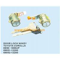 Door Lock with key for Toyota Corolla EE90 1989UP