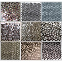 Penny round stainless steel mosaic