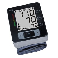 Wrist blood pressure monitor blood pressure measuring device for home use