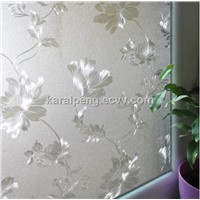 Frosted UV static cling 3D transparent sunscreen glass window film